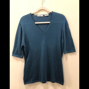 Newman Marcus Cashmere Collection blouse top shirt